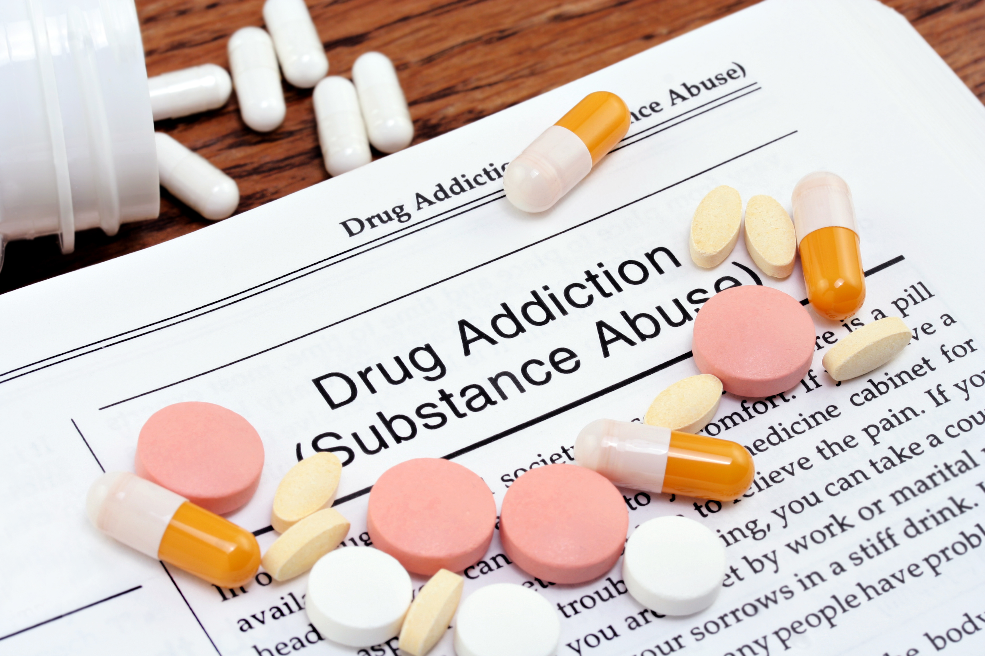 Information on drug addiction or substan