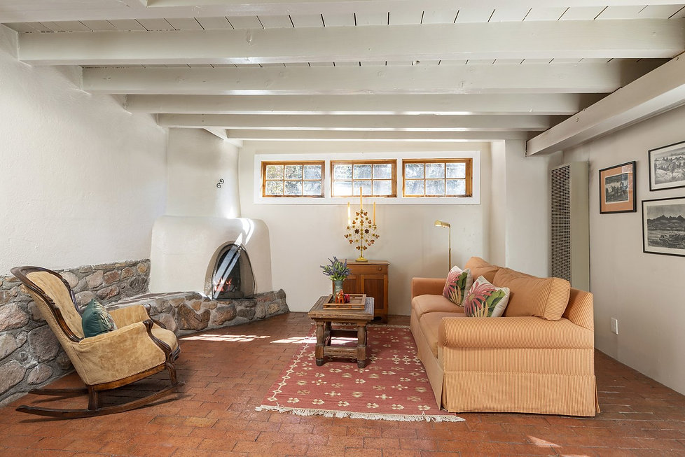 Charming step-down den in New Mexico casita.