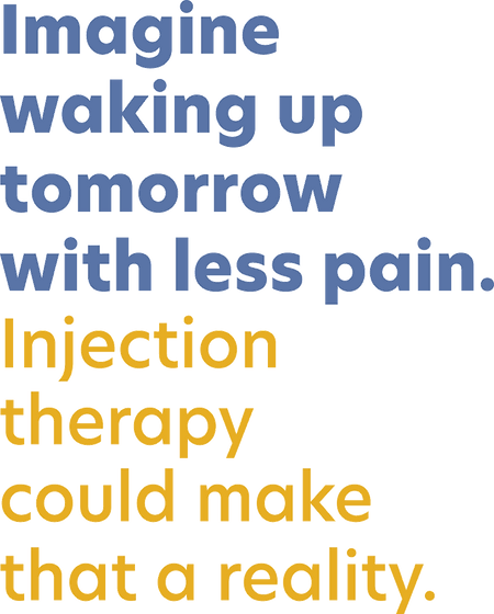 Imagine waking up tomorrow with less pain. Display text from Kevin Wilson ND in Hillsboro, Oregon.