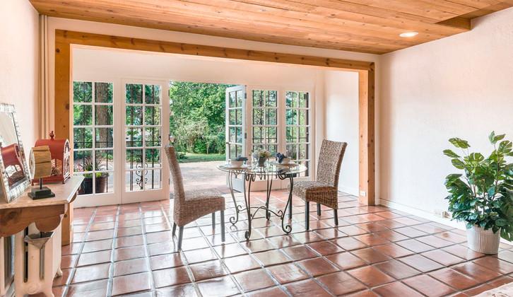 Hillside | French Doors Brighten Family Room