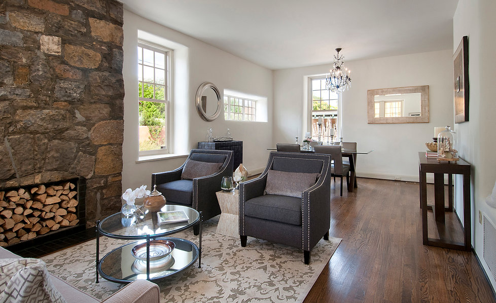 Metallic accents and contemporary interior styling update historic New Mexico home.