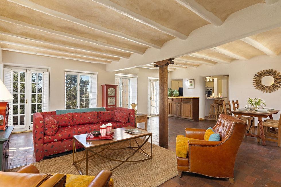 Living room in 5000 sq. ft. Santa Fe home.