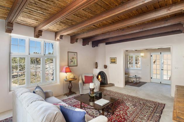 Tesuque Village   Casita Living Room (Alternate View)