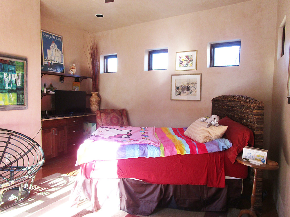 Guest house space used as kids room prior to home staging services.