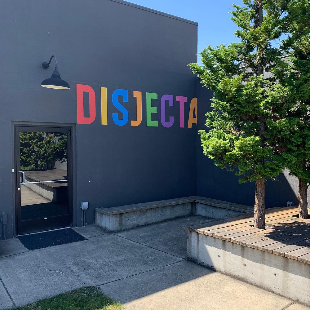 View of Disjecta Contemporary Art Center building in Portland, Oregon