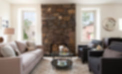 Historic Santa Fe home staged with updated furniture and decor by DeMarais Home Staging and Design.