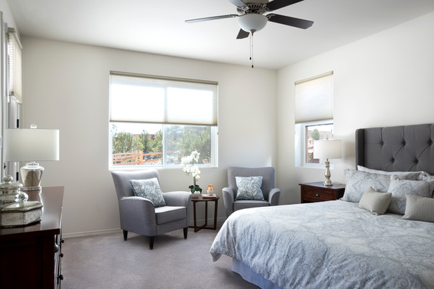 Via Tessera | Second Bedroom with Silver Palette