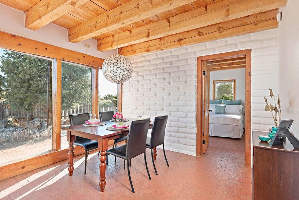 Charming dining room is part of open concept floor plan in this El Dorado home.