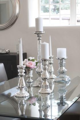 Webber   Mercury Silver and Glass Decor