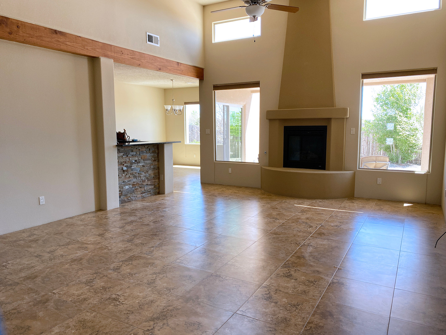 Canto Del Pajaro | Vaulted Living Room Feels Cavernous Before Staging