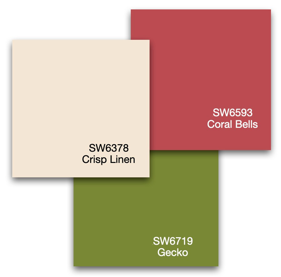 Two interior design accent colors and a neutral color