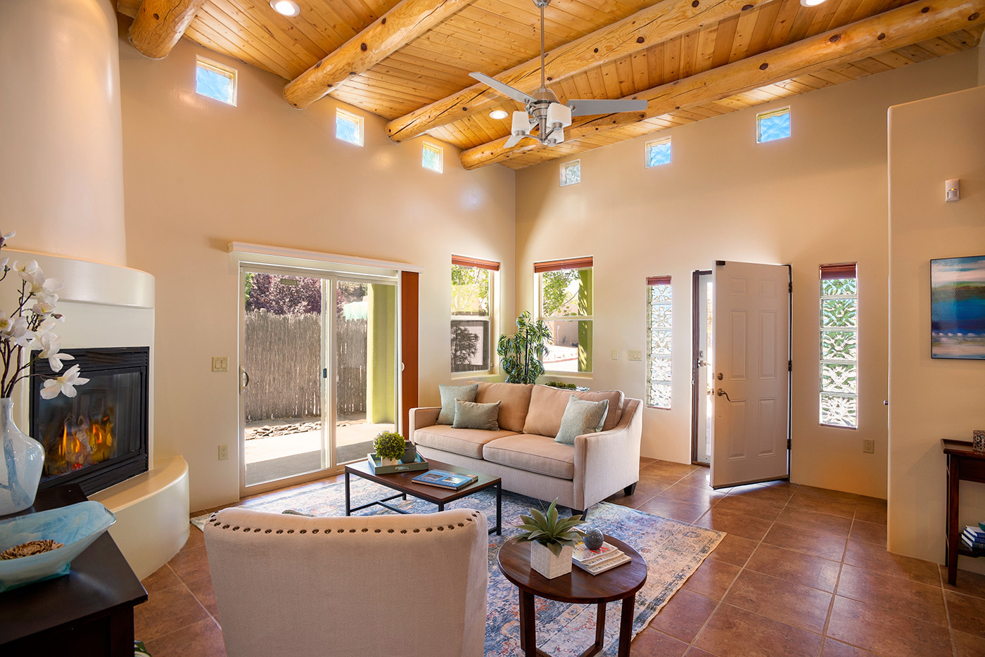 Calle Beatrice | Entrance and Patio Doors