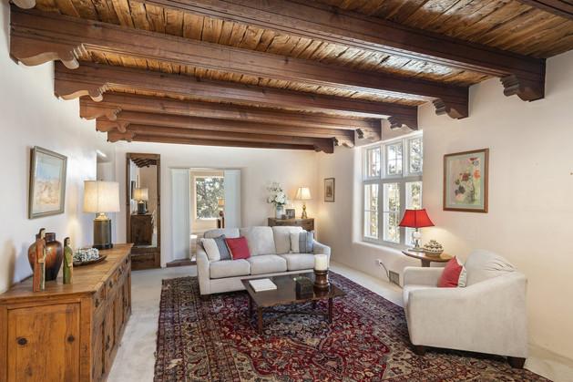 Tesuque Village   Casita Living Room