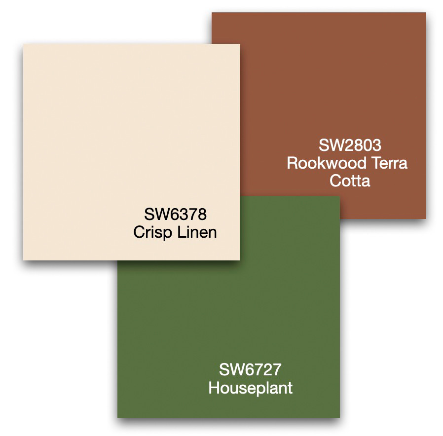 Three paint colors from Sherwin-Williams inspired by a photo.