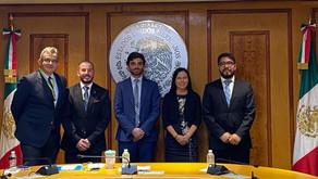 Diputado Mejía se reúne con congresistas de los principales partidos de México