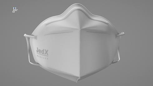 JedX suojain edestä logo ja avainlippu