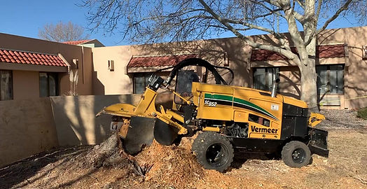 stump grinding, landscaping, heavy machinery