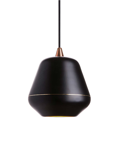Etica Black, hammered brass lamp