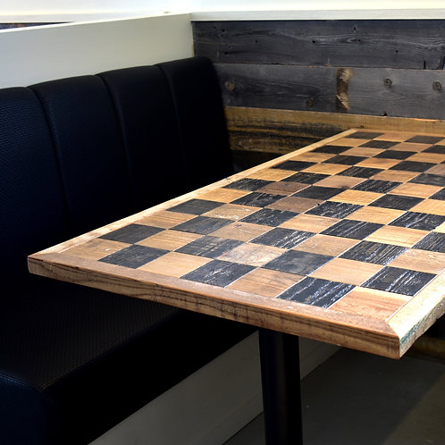 check wood dining table