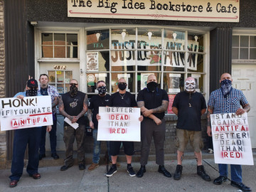 Nationalists Confront Antifa In Bloomfield PA