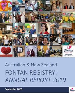 Fontan Registry Annual Report 2019