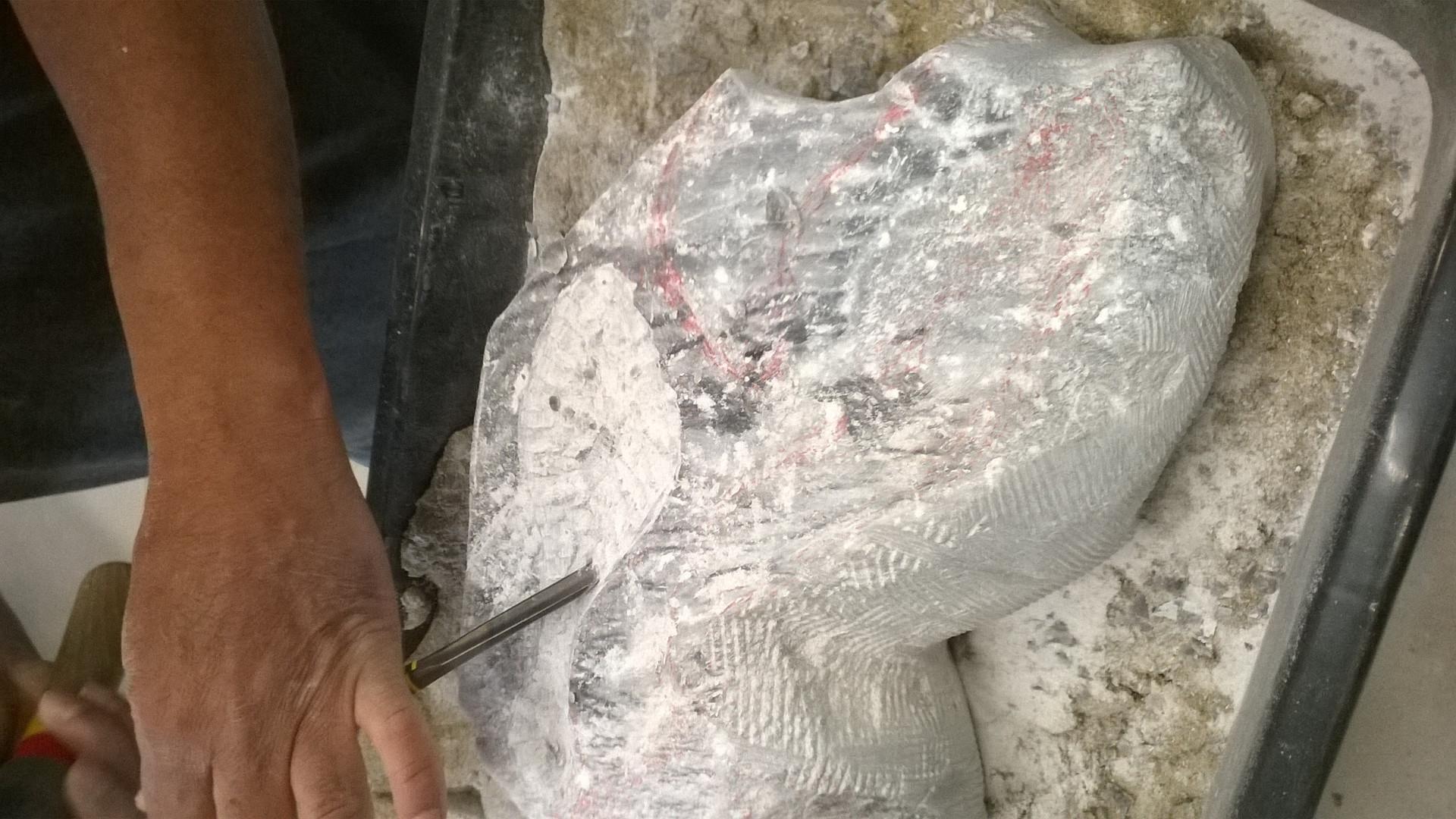 Taille directe de pierre Stéatite