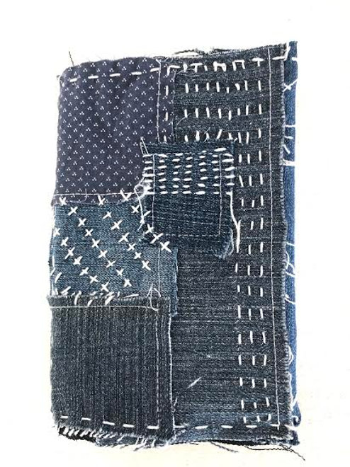 Recycled Denim journal cover -