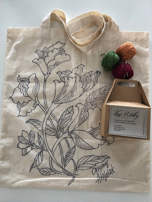 KIT- TOTE original art embroidery