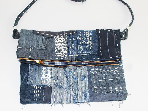 WORKSHOP - patched fold over cross body bag