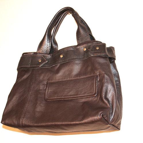 up-cycled leather jacket bag