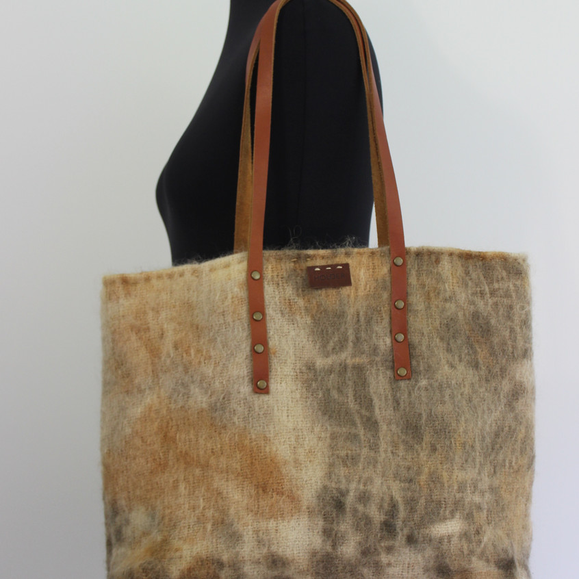 upcycled blanket tote