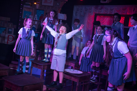 """Jack performing in our professional production of """"Matilda""""."""