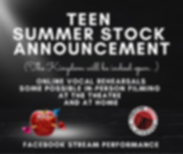 Teen Summer Stock is coming back... (Hin