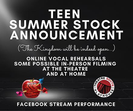 Teen Summer Stock is coming back... (Hin