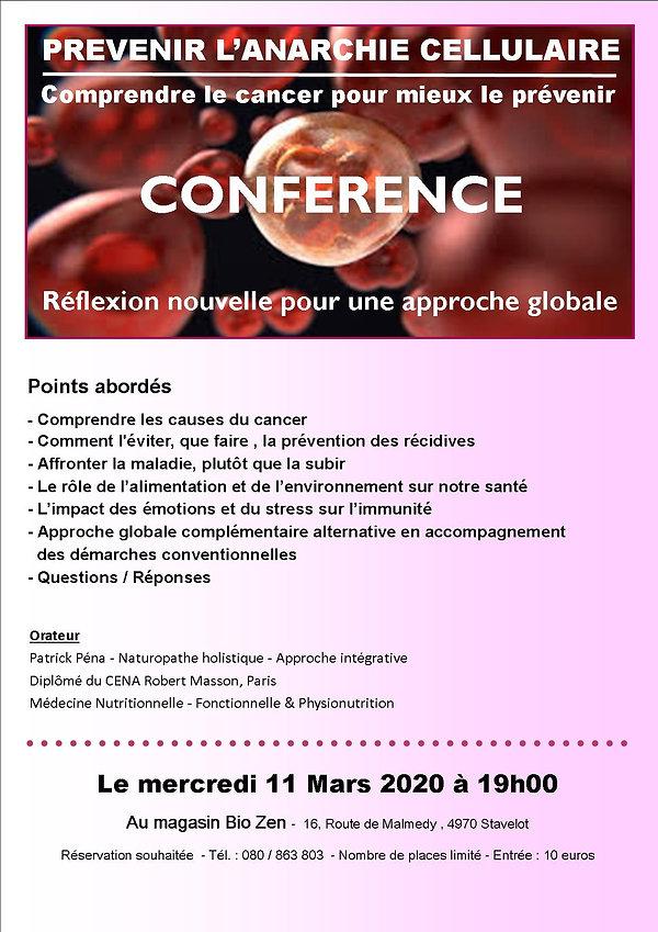 AFFICHE CONFERENCE  -PREVENIR L'ANARCHIE