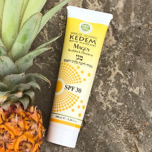 Magen | Маген - солнцезащитный крем SPF 30 (100 мл) - Herbs of KEDEM | Кедем