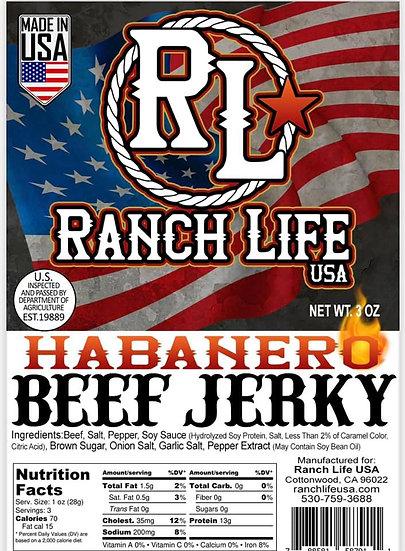 Habanero Beef Jerky [3oz] Bag