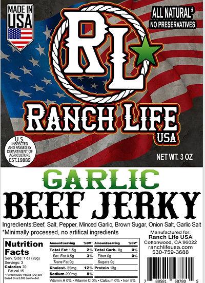 Garlic Beef Jerky [3oz] Bag