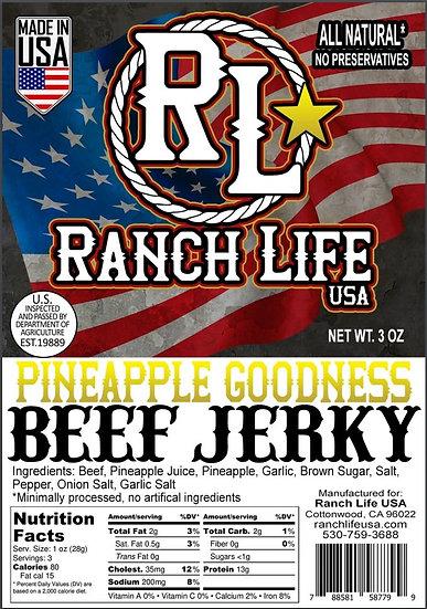 Pineapple Goodness! Beef Jerky [3oz] Bag