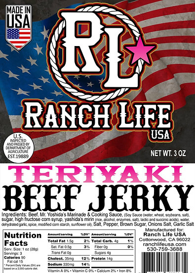 Teriyaki Beef Jerky [3oz] Bag