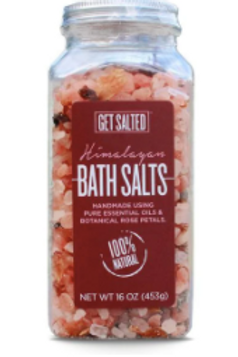 Himalayan Bath Salts with Essential Oils and Botanical Rose Petals