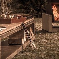 Gartenbank Bech als Holzlege - FeuerCampus 365