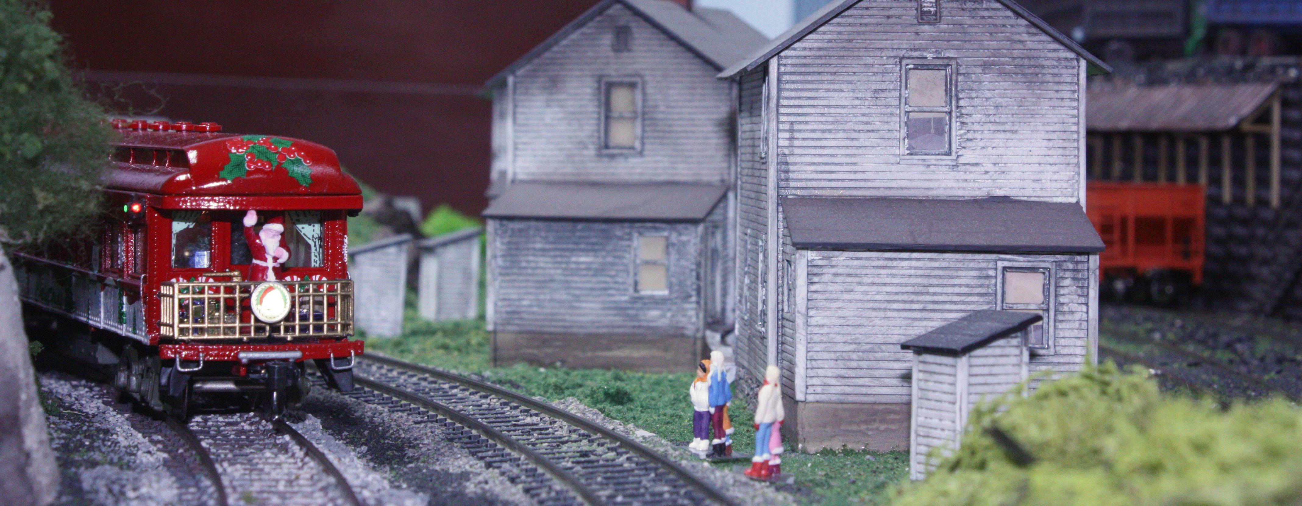 santa greets slum kids