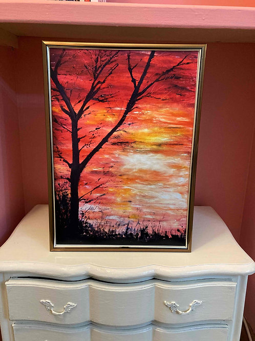 Sunset Tree 1, Limited Edition Print by Laurel Moore