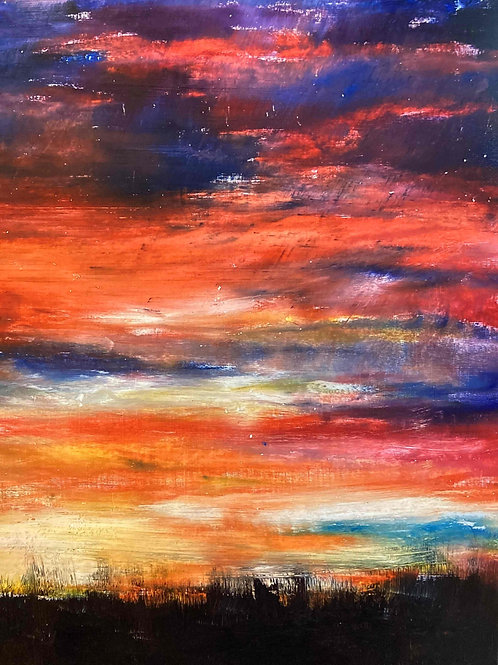 Sunset Heather, Limited Edition Print by Laurel Moore