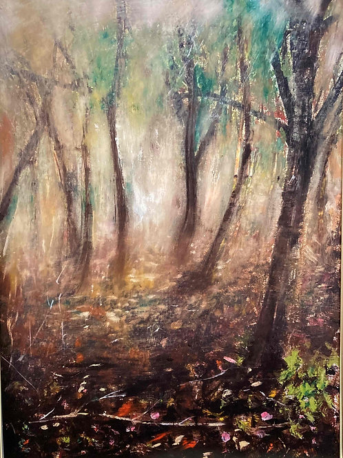 Autumn Forest Mist 1, Limited Edition Print by Laurel Moore