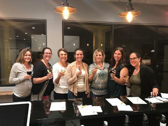 Group Shot Wine Tasting