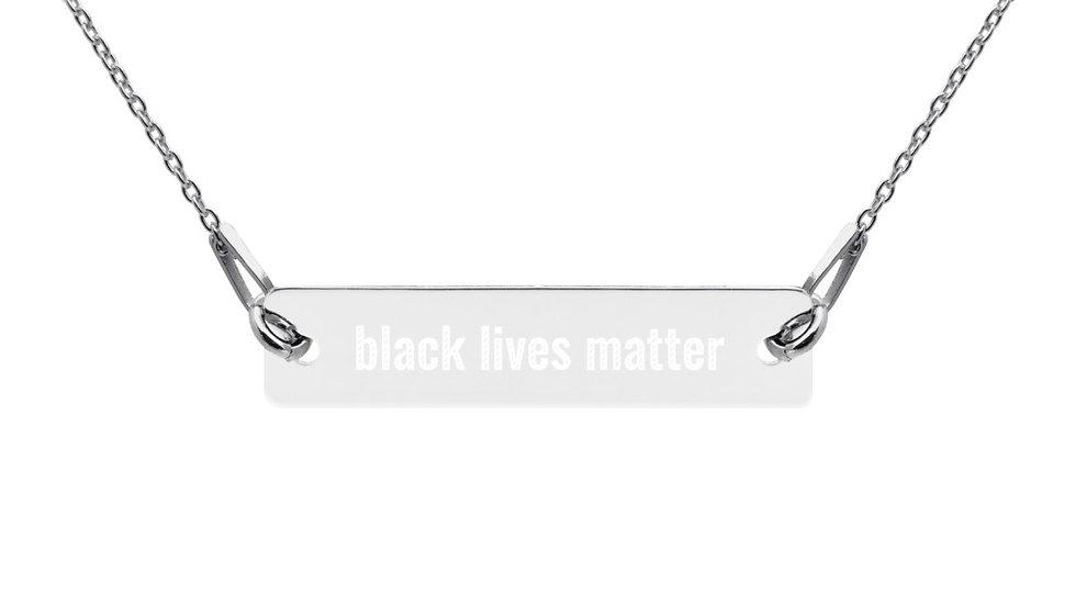 Black Lives Matter Bar Necklace