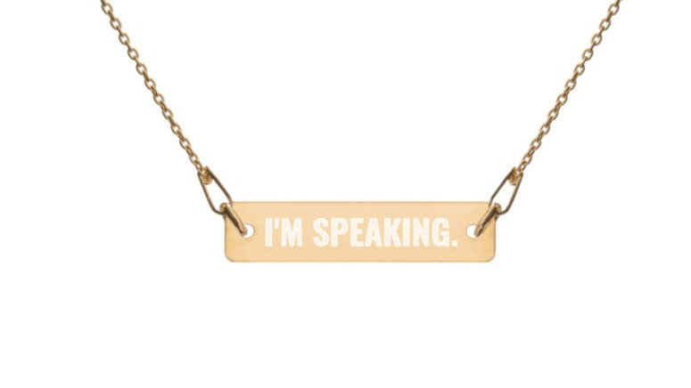 I'm Speaking Bar Chain Necklace