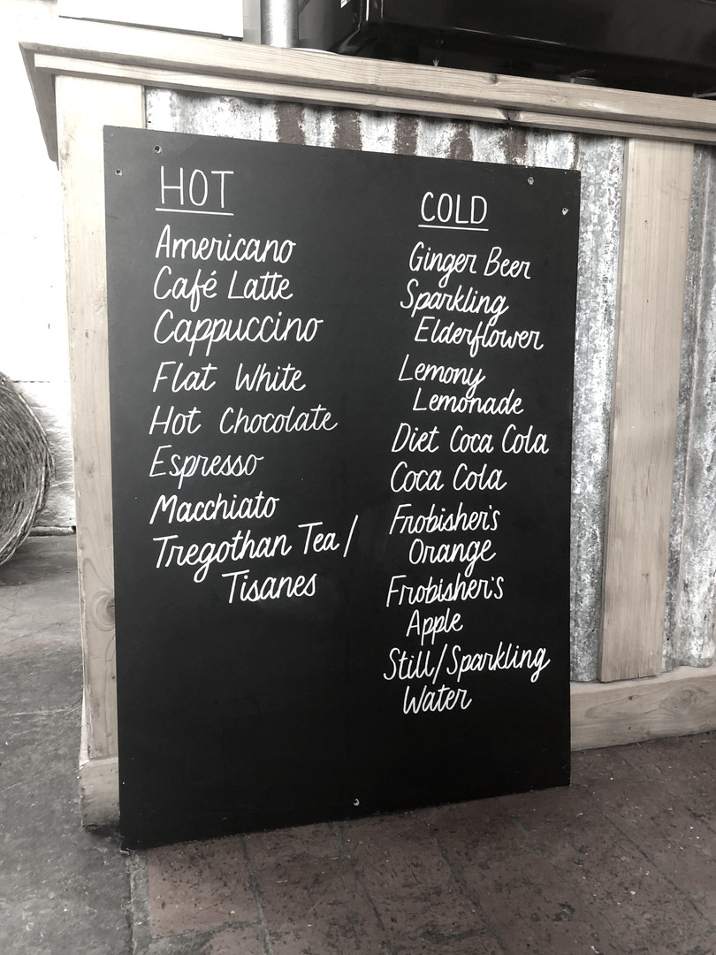 Drinks Menu Board